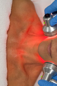 Red LED with infrared lights skin treatment